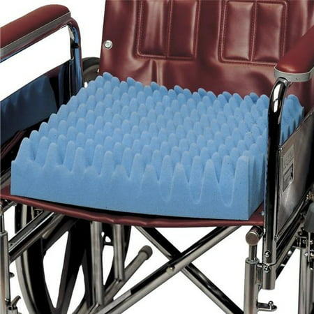 PCP Convoluted Foam Wheelchair Cushion, Blue, ()