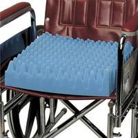 PCP Convoluted Foam Wheelchair Cushion, Blue,