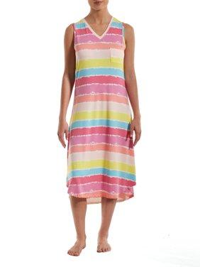 Roudelain Women's Sleeveless V-Neck Sleepshirt