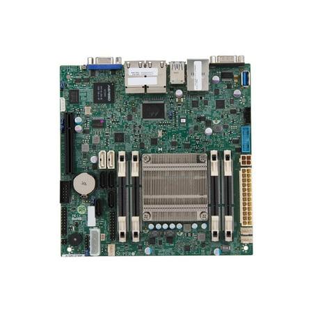 Supermicro Motherboard A1SRI-2758F Atom C2758 64GB DDR3 PCIE SATA USB Mini ITX DDR3 1333 NA (MBD-A1SRI-2758F-O) (Itx Motherboard Ddr3 8 Gb)