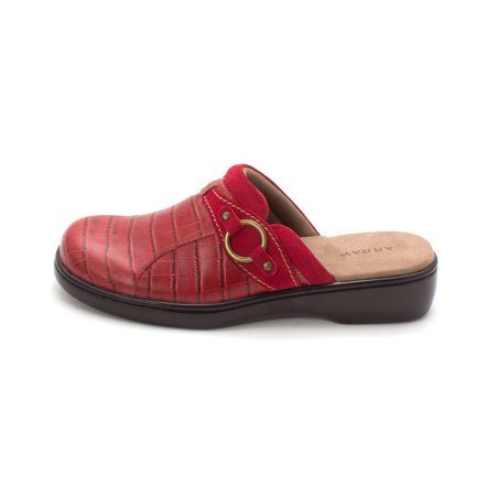 Array Womens Lyric Leather Closed Toe Clogs