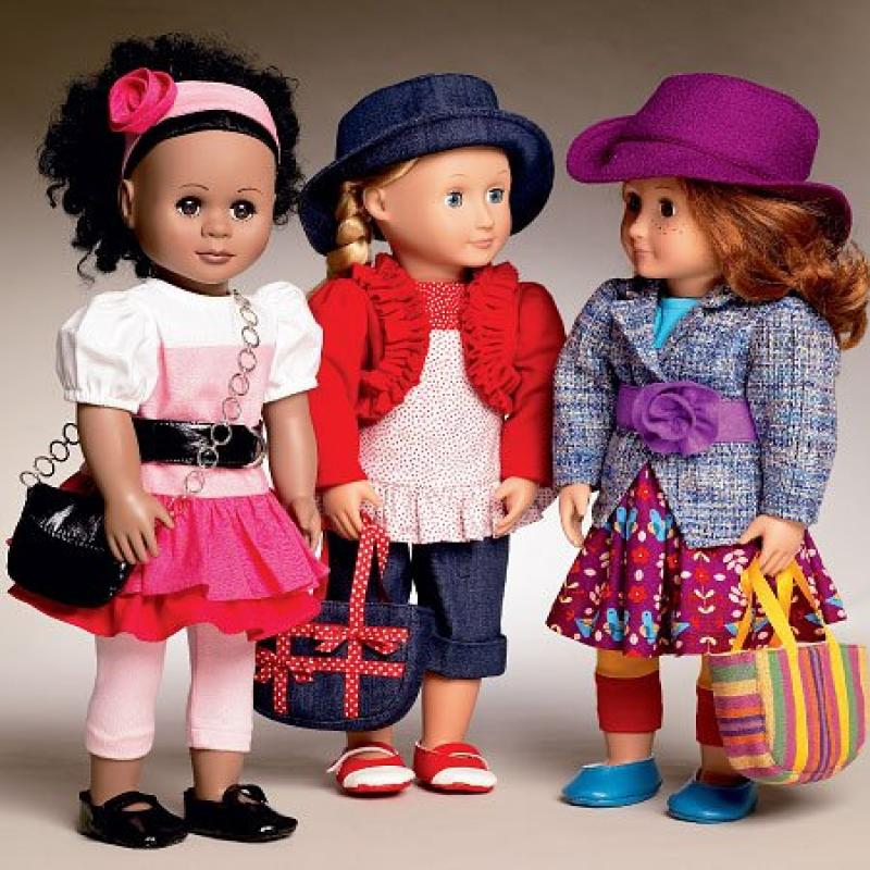 MCCALLS M6764 ~ 18 DOLL CLOTHES [FITS AMERICAN GIRLS DOLLS & OTHER 18 DOLLS] Design by Laura Ashley ~ SEWING PATTERNS