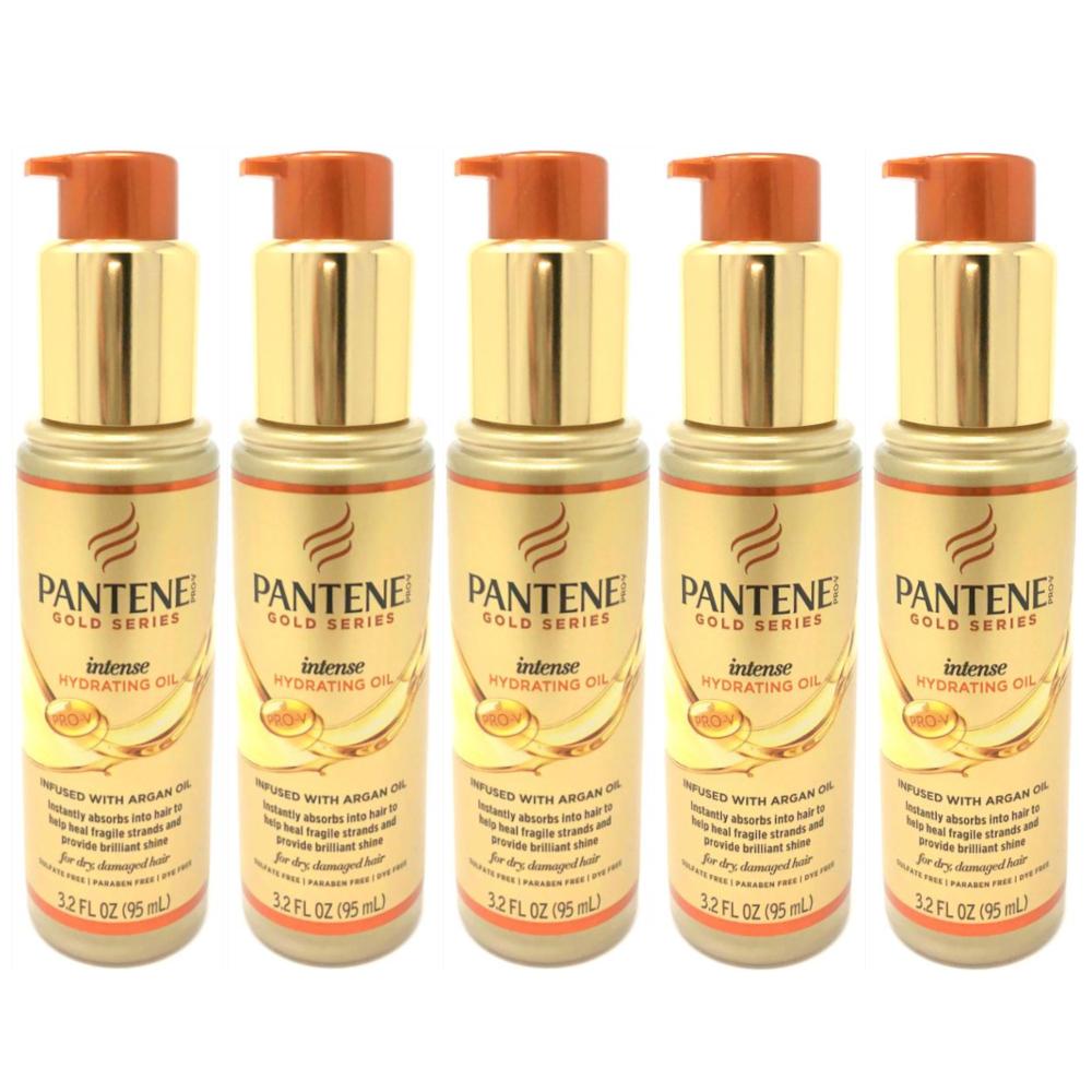 5 Pack Pantene Pro-V Gold Series Intense Hydrating Oil Treatment 3.2 Ounces each