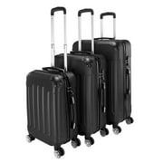 "3-Piece Suitcase Sets on Sale, SEGMART Portable Lightweight Hardshell Luggage with TSA Lock, Heavyweight Carryon Suitcase Set: 20""/ 24''/ 28"", Large Capacity Storage for Traveling, Pink, S13289"