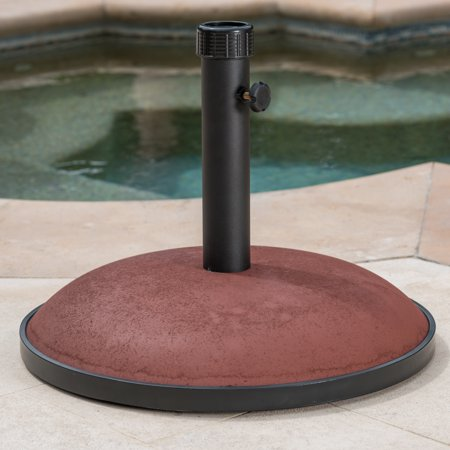 Maximus 66lbs Concrete and Iron Umbrella Base, Brownish Red ()