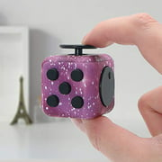 Fidget Cube Stress Anxiety Pressure Relieving Toy Great for Adults and Children[Gift Idea][Relaxing Toy][Stress Reliever][Soft Material] (Starry Purple)