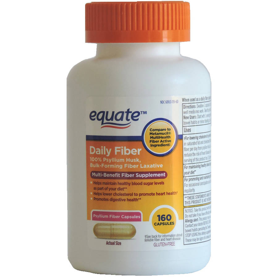 Equate Daily Fiber Powder Laxative Tablets, 160 ct