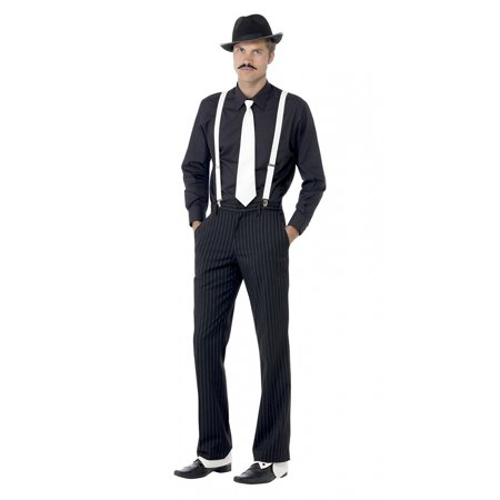 Gangster Halloween Costume Accessories (Instant Gangster Kit Adult Costume Accessory)