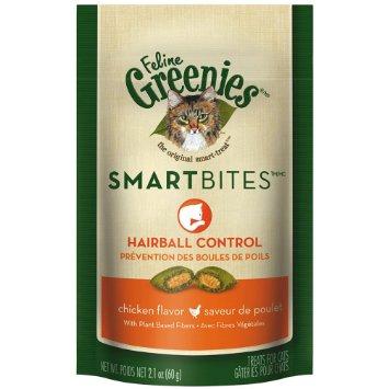 Greenies Smartbite Hairball Chicken Cat Treat
