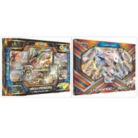 Pokemon Trading Card Game Mega Powers Collection Box and Lycanroc GX Collection Box Bundle, 1 of Each