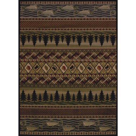 United Weavers Essence Mountain Pine Lodge Multi Woven Polypropylene Area
