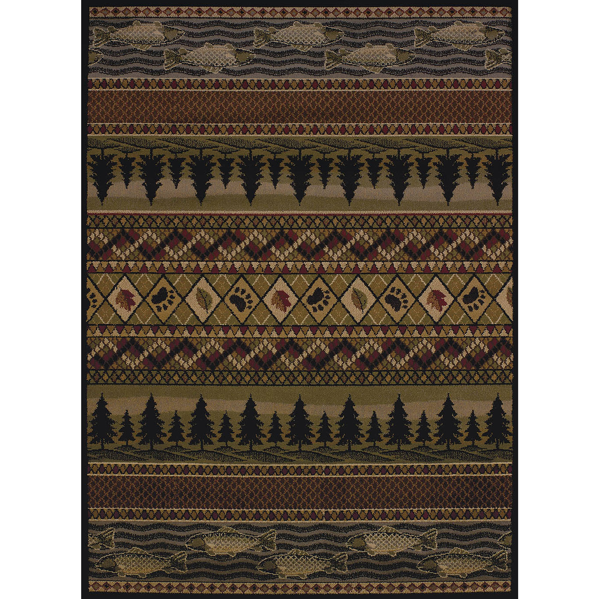 United Weavers Essence Mountain Pine Lodge Multi Woven Polypropylene Area Rug