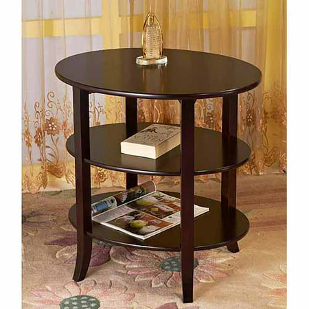 Home Craft 3 Tier Oval End Table ()