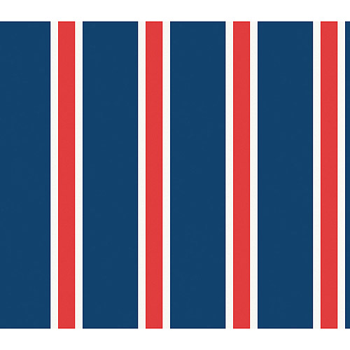 Blue Mountain Athletic Stripe Wallcovering, Red/White