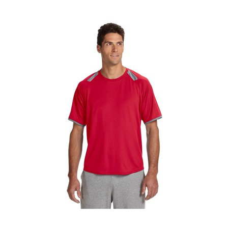 Russell Athletic Athletic T-shirt - Russell Athletic Dri-Power Tee with Colorblock Insert, Style 6B6DPM