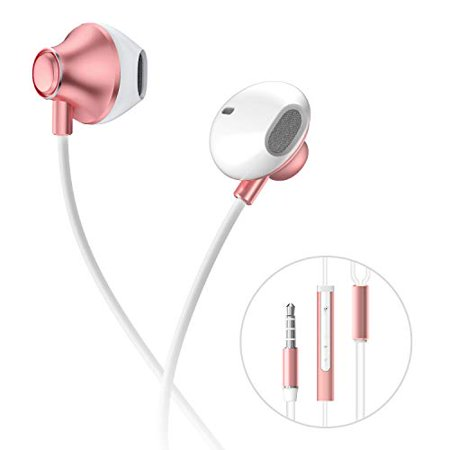 Built In Volume Control (Humixx in Ear Wired Headphones,Ergo-Fit Earphones Enhanced Bass with Built in Mic and Volume Control 3.5 mm Jack for Samsung )