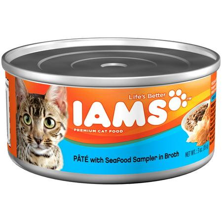 Iams Pate Seafood Sampler Wet Cat Food, 3 Oz