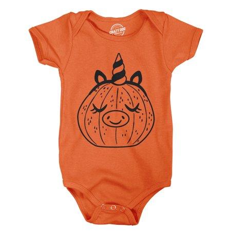 Creeper Pumpkin Unicorn Pig Baby Bodysuit Funny Halloween Jack-O-Lantern Jumper - Pigs In A Blanket Halloween Recipe