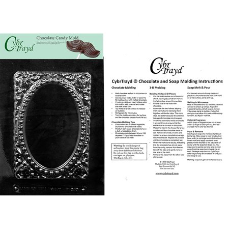 Floral Candy - Frame Floral Chocolate Candy Mold with Exclusive Cybrtrayd Copyrighted Molding Instructions