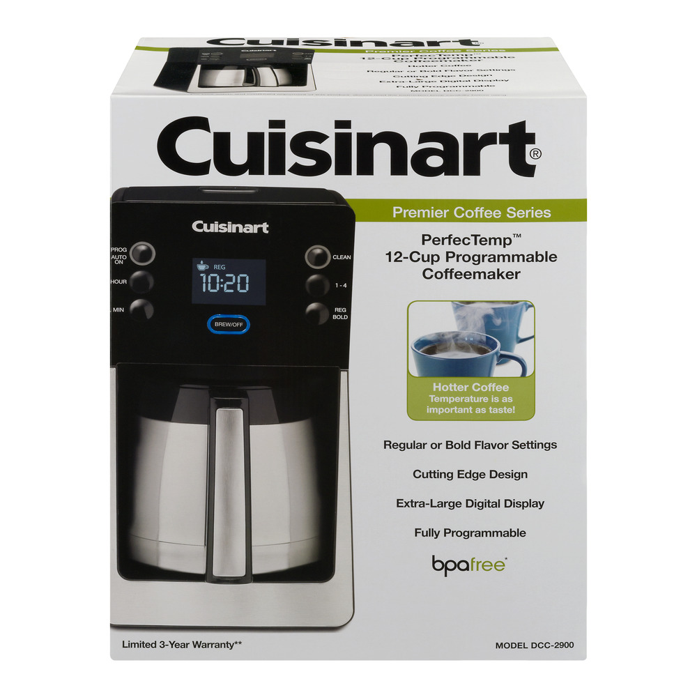Cuisinart Premier Coffee Series PerfecTemp 12-Cup Programmable Coffeemaker, 1.0 CT