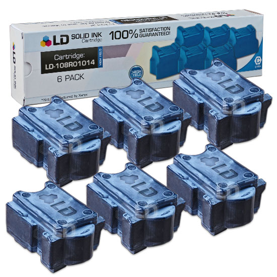 LD Xerox ColorQube 8900 Compatible Cyan (6 Pack) 108R01014 Solid Ink Cartridges
