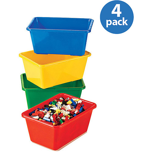 Tot Tutors Primary Colors Small Storage Bins, Set of 4 by Tot Tutors