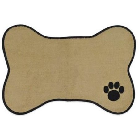Bone Shape Embroidered Pet Feeding Placemat Brown by Bone -