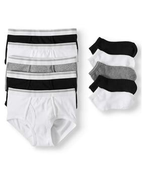 Wonder Nation Boys Underwear, 5 & 5 Pack Briefs & Socks (Little Boys & Big Boys)