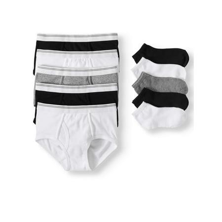 Wonder Nation Boys Underwear, 5 & 5 Pack Briefs & Socks (Little Boys & Big Boys) Carters Boys Five Pack