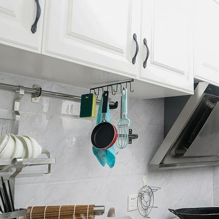 Metal Cabinet Hanging Rack Cup Holder, Kitchen Cabinet Hanging Rack