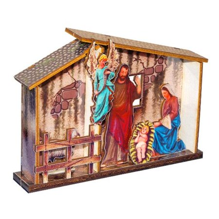 Subli Art 10056 Living Nativity Scenes Wooden Model Gloria Angel Diy