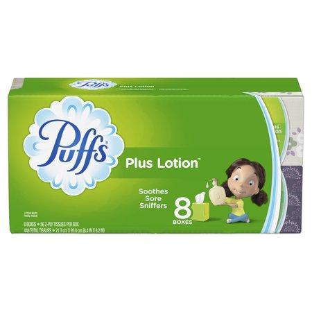 Puffs Plus Lotion Facial Tissue, 8 Cube Boxes, 56 Facial tissues per box, 448 tissues per - Puff Cigarettes