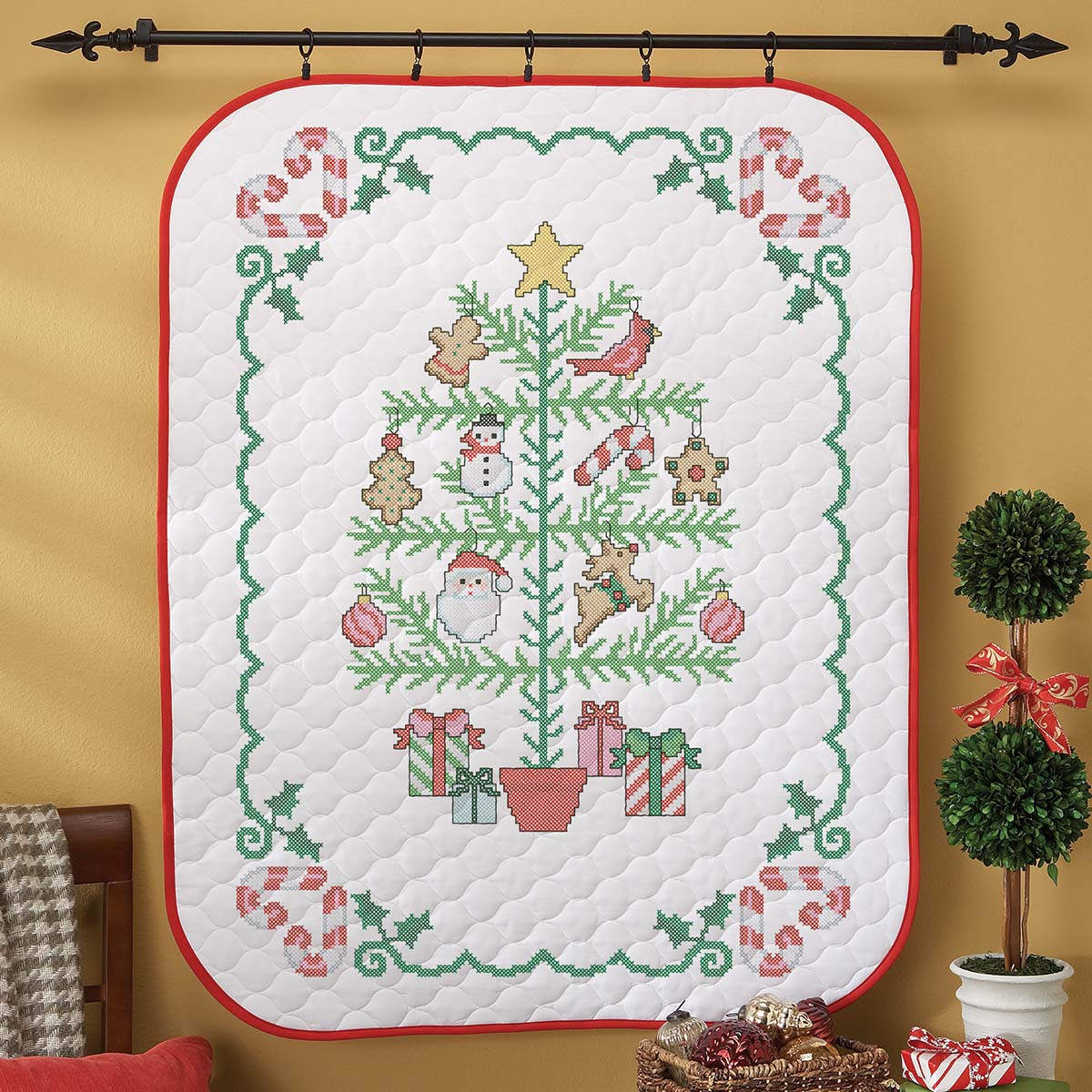 Herrschners/® Holiday Giving Bottle Aprons Stamped Cross-Stitch