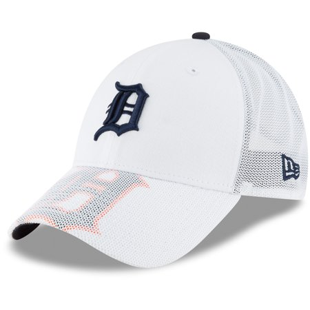Detroit Tigers New Era Meshed Mascot 9FORTY Adjustable Hat - White - OSFA
