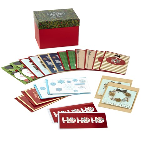 Hallmark Boxed Handmade Christmas Cards Assortment (Set of 20 Special Holiday Greeting Cards and Envelopes) ()
