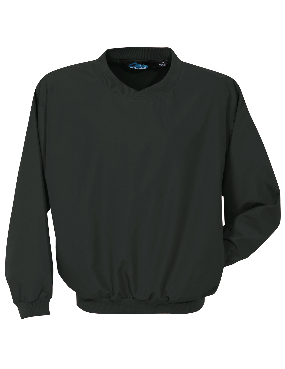 Tri-Mountain Windstar 2500 Microfiber Windshirt, 2X-Large, Black