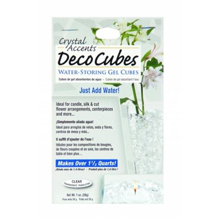 JRM Chemical DC-C Deco Cubes 1 oz Pack - Clear Artificial Ice Cubes Water Storing Gel Decoration (Ice Decorations)