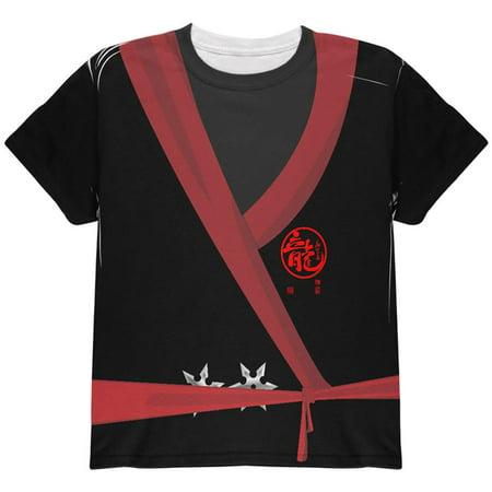 Halloween Evil Shadow Ninja Costume All Over Youth T Shirt