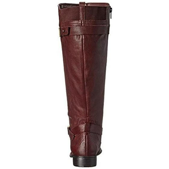 b61072e377a Naturalizer - Womens Joan Wide Calf Leather Riding Boots - Walmart.com