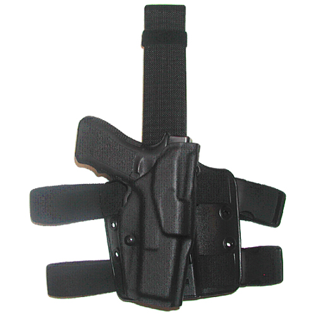 Safariland Tactical Thigh Holster (Safariland 6354 ALS Tactical Thigh Holster Glock 17 w/ITI M3 STX TAC Black RH )