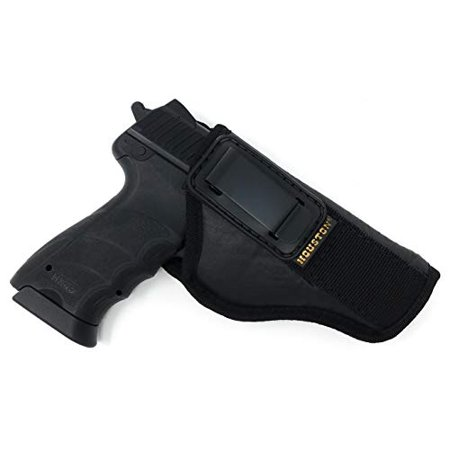 IWB TUCKABLE Gun Holster by Houston - ECO Leather Concealed Carry Soft Material | FITS Glock 17/21, H &K,Beretta 92 FS,XDM,Ruger 45 BERSA PRO,PX4,FNX 45,FNH 45,HI Point 9mm /.40 /.45 Cal