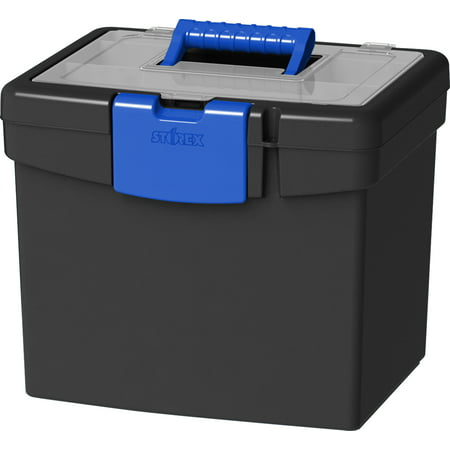 Storex File Box + XL Storage Inside the Lid Esselte Portable Expanding Organizer