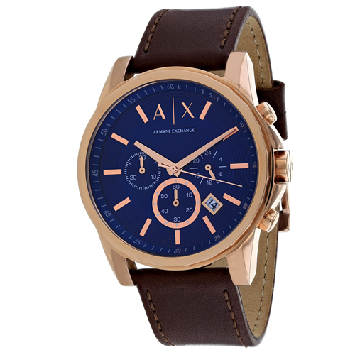 Armani Exchange Outerbanks Leather Chronograph Mens Watch AX2508