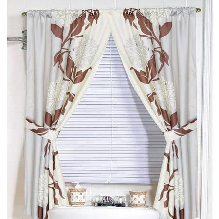 Red Barrel Studio Stoneridge Nature Floral Semi Sheer Window Curtain Panel