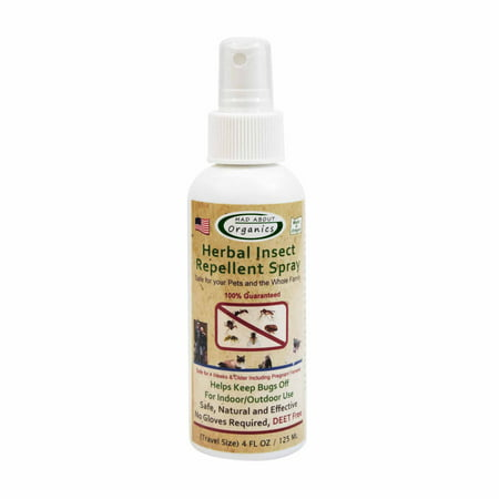 Mad About Organics All Natural Dog & Cat Herbal Insect Repellent Flea & Tick Topical Spray 4oz