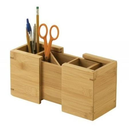 Lipper International 807 Bamboo Expandable Pencil Holder