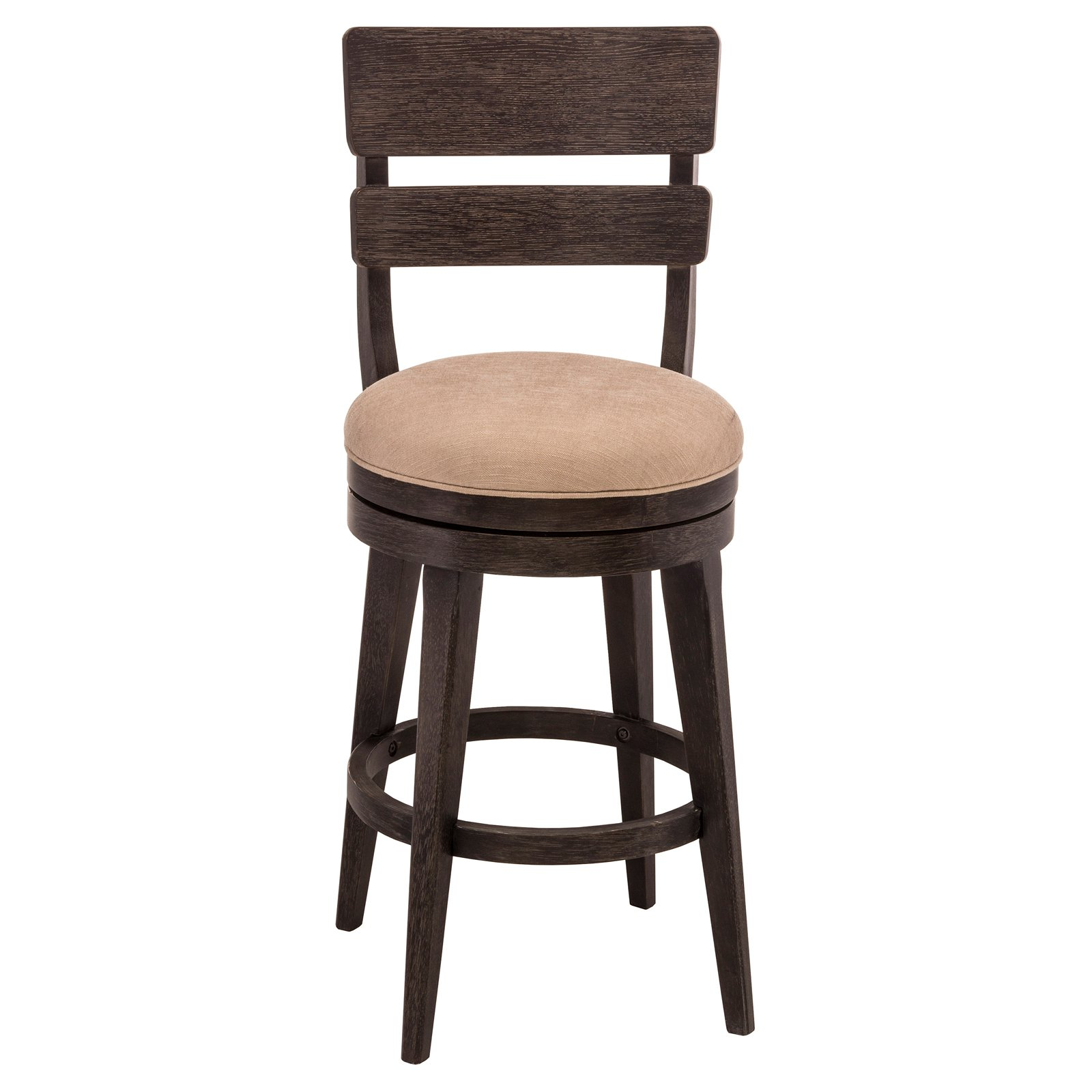 Leclair Swivel Bar Stool, Black Wire Brushed Finish by Hillsdale Furniture
