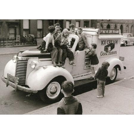 - Avanti Press Kids On Ice Cream Truck America Collection Birthday Card