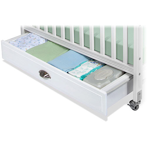 Child Craft Storage Drawer for Professional Child Care Compact Crib, White