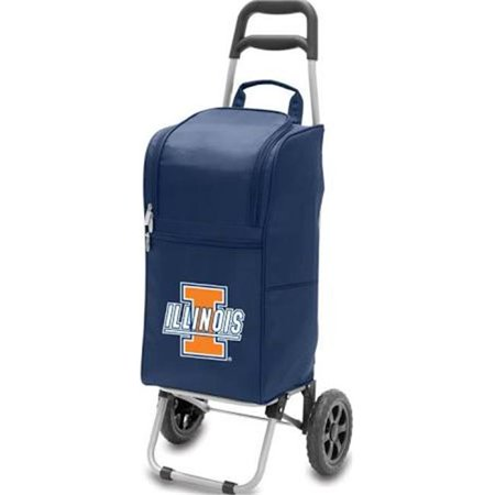 Picnic Time 545-00-138-214-0 University of Illinois Fighting Illini Digital Print Cart Cooler, Navy - image 2 of 2